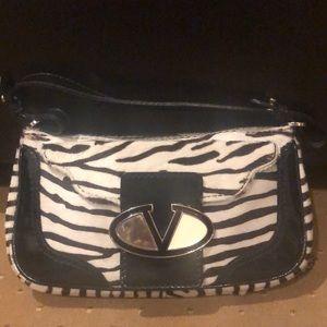 Valentino Garavani Vintage Zebra Fur Print Bag